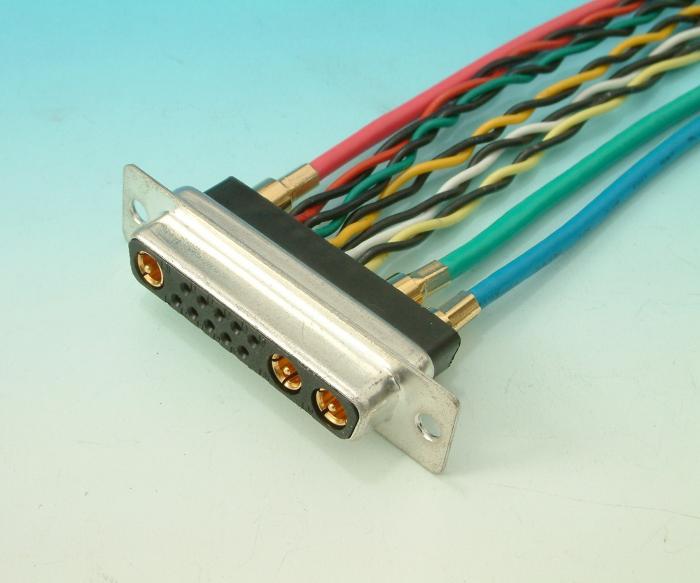 Custom D Sub Cable Assemblies : Professional d sub w c cable comb custom