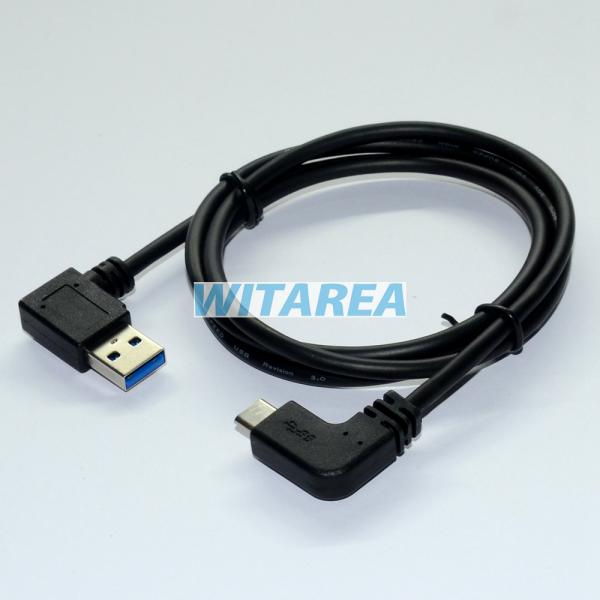 professional usb type c 90 u00b0degree left angled cables 90