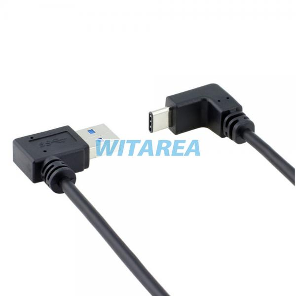 Professional 90 deg degree type c cable angled type c