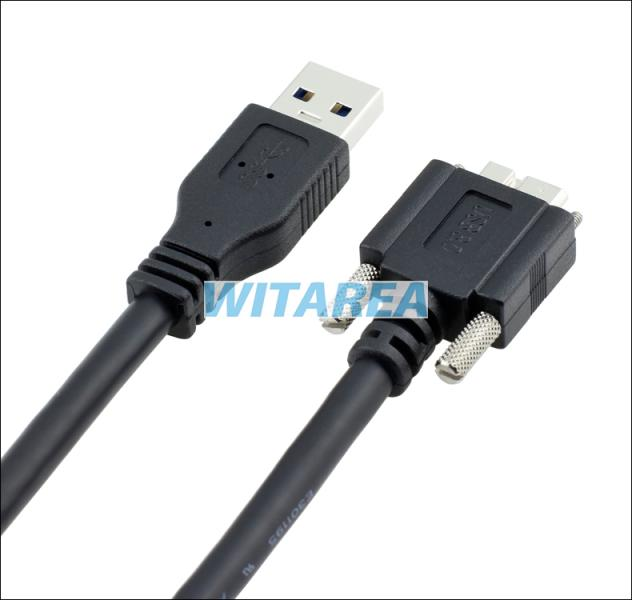 professional micro usb 3 0 dual screw locking cables micro